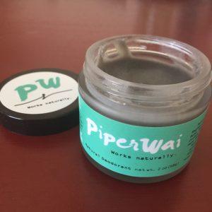 Piper Wai Natural Deodorant Product Review - open jar