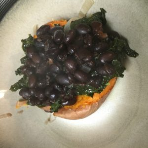 The best ever stuffed sweet potato recipe - black beans