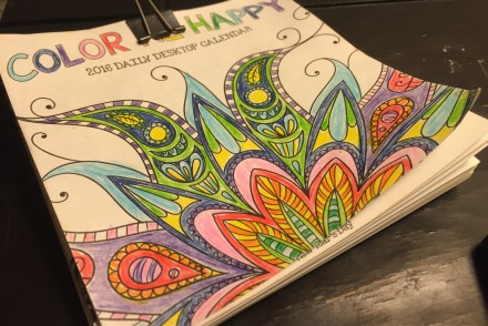 Meditation through coloring - coloring calendar
