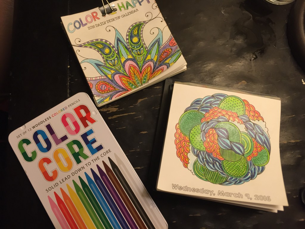 Meditation through coloring - Full set up