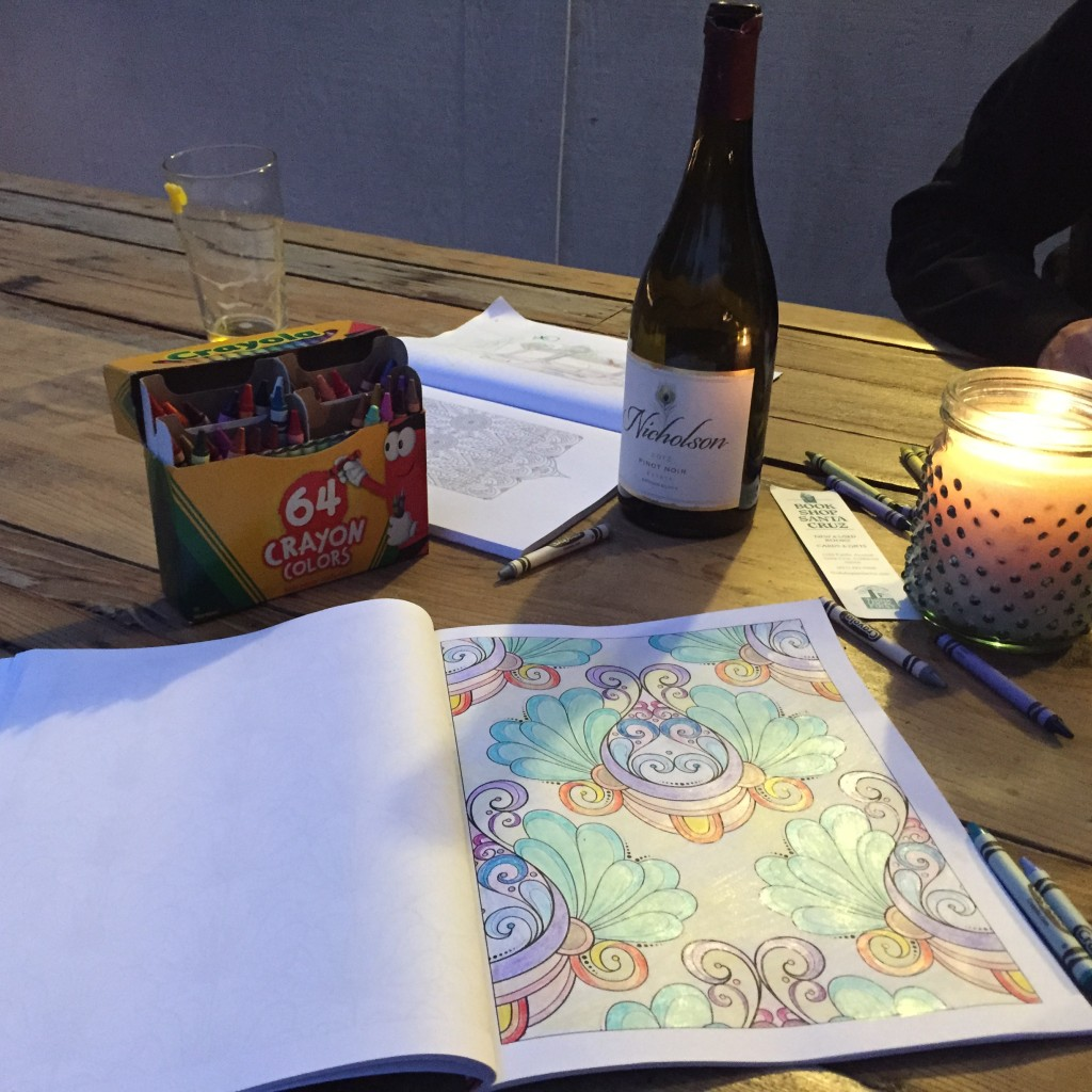 Meditation through coloring - sisters coloring