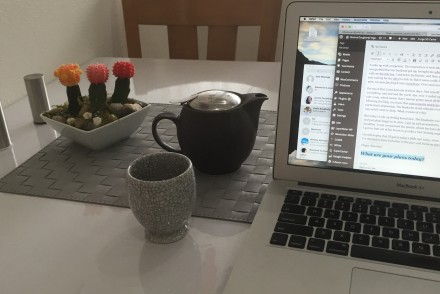 Up Days and Down Days - Tea and blogging