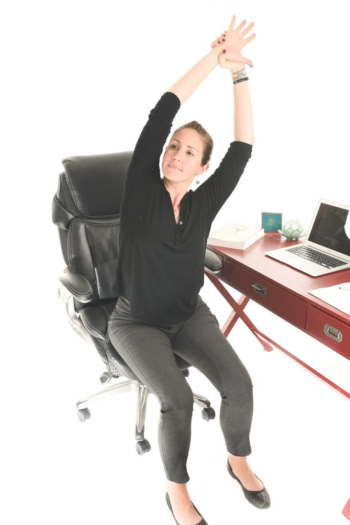5 Seated Yoga Stretches for your Desk Job - Side Stretch