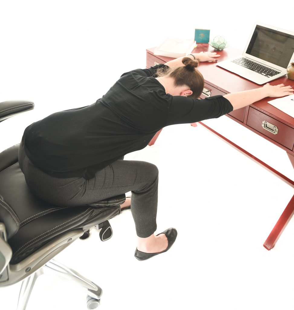 5 Seated Yoga Stretches for your Desk Job - Back Stretch